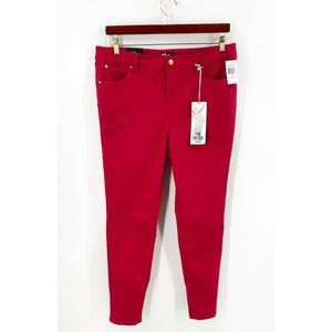 Celebrity Pink Skinny Jeans Sz 16 Red Solid NEW